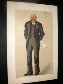 Vanity Fair Print 1891 Sir Philip Magnus